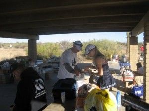 Typical Aid Station Scene