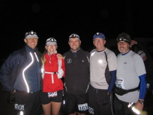 Me, Paige, Brian, Ed And Terry - At The Start Of RR100