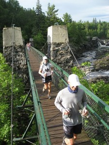 A Swinging Bridge At Roughly Miles 3.2 and 46.8