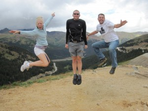 Paige, Me, and Brian on Loveland Pass