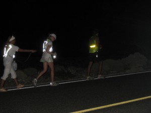 Paige Getting Cooled Off During Pacing Duties; Even At Night, It Was 100+ Degrees