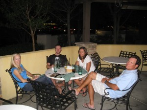 Paige, Brian, Kelly And Steve At Dinner