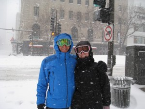 Paige And Me On Michigan Ave.