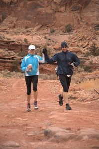Paige And I Finishing The Moab Red Hot 55K